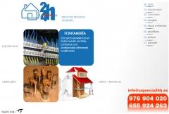 Dise�o web de servicios urgentes de reparaciones urgencia24h.es