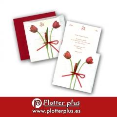 Invitaciones de boda selección en imprenta plotterplus