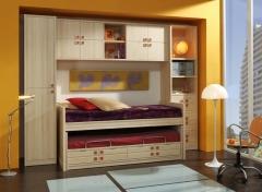 Dormitorio juvenil a medida en madera maciza
