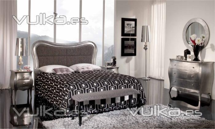Foto dormitorio de matrimonio de estilo colonial retro plata - Dormitorio estilo colonial ...