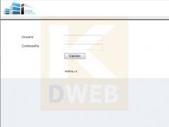 Iportal. gestor de cotenidos de kdweb. pantalla de conexi�n