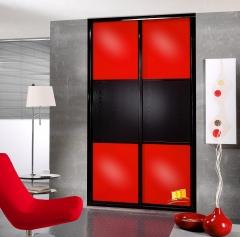 Frente de armario rojo