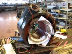 Rebobinado de motor el�ctrico.