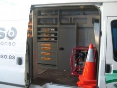 Equipamiento interior de furgoneta taller