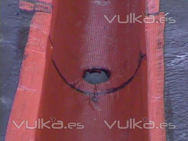 Foto tratamiento de canalon en cubierta de fibrocemento for Piscina cubierta illescas