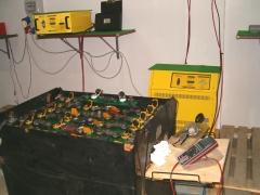 Batería de tracción y cargadores smart-card y aparatos de medición.