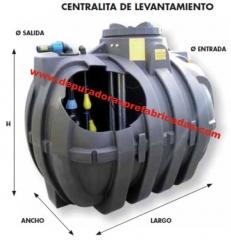 Pozo de bombeo monobloque, compuesta de tanque en polietileno lineal de alta densidad (pead) monobloque ...
