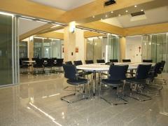 Tabiques de separaci�n y puertas correderas a medida para oficinas y salas de conferencia. carriles de iluminaci�n ...