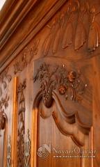 Detalles de talla de madera
