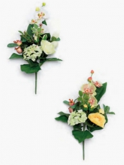 Flores artificiales cementerio de calidad. oasisdecor.com ramo peque�o flor artificial ranunculos y hortensias