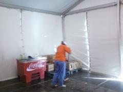 Limpieza de caseta de guardia civil en el evento de fry leopoldo de alpandeyre