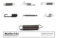 Muelles de tracci�n (variedad en tipos de anillas y ganchos)
