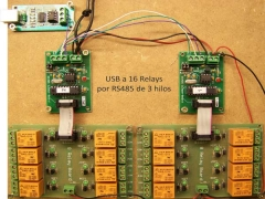 Control de relays rs485