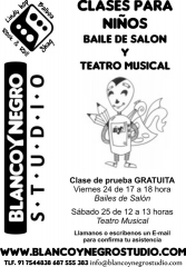 CLASE GRATUITA DE PRUEBA de Bailes de Salón y Teatro Musical para niños