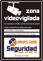 Zona Videovigilada Negro