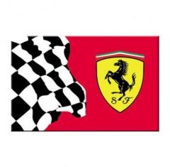 Ferrari banderas para el coche