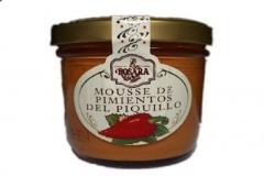 Mousse de pimientos del piquillo en tarro de cristal de 250 grs. puede utilizarse como base de canap�s, de ...