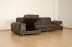 Sofa chaiselongue piel bruma de granfort - arcon