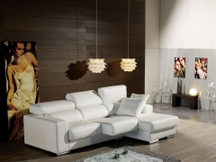 Sofa chaiselongue en piel estela - Pedro Ortiz