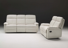 Sofa de piel 3+2 geminis con 4 mecanismos de relax