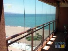 Cerramiento panorámico de cortina de cristal lumisol mediterranea