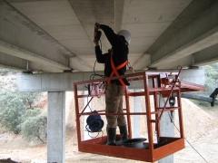 Preparación  de estructura para prueba de carga