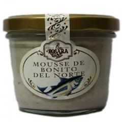 Gourmet - mousse de bonito del norte en tarro de cristal de 250 grs.puede utilizarse como base de canap�s, de ...