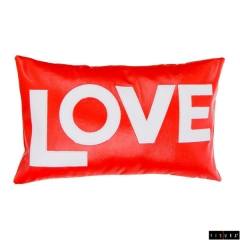 Fisura - lote 2 cojines rojo love blanco
