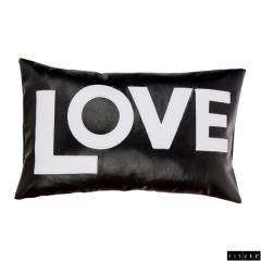 Fisura - lote 2 cojines negro love blanco