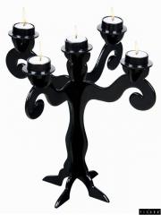 Fisura - candelabro monster 5 brazos aluminio negro 36 cm