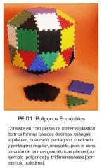 Poligonos encajables - para hacer armados tridimensionales con piezas de pvc