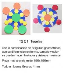 Teselas - combinaci�n de varias formas geom�tricas, para m�ltiples armados. es uno de los juegos del malet�n ...