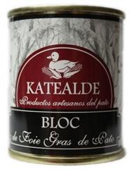 Bloc de foie gras de pato en lata de 135 grs. ingredientes: h�gado de pato (98%) , sal, especias naturales, sal ...