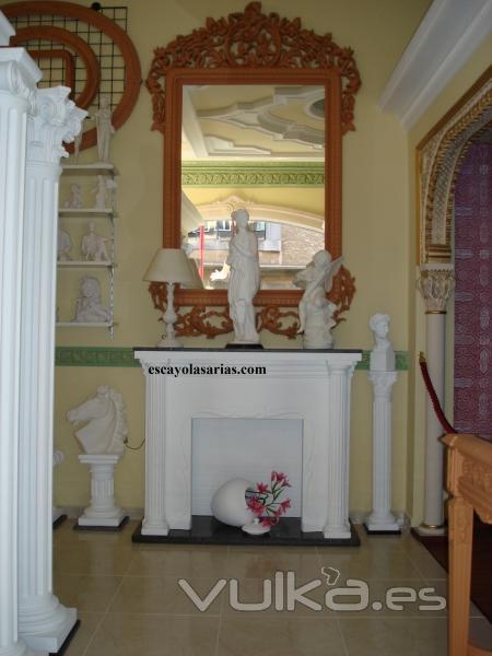 Foto chimeneas decorativas de escayola marcos de resina - Fotos de chimeneas decorativas ...