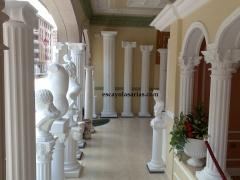 Columnas de escayola. D�rico, J�nico, Corintio, ...