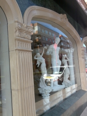 Fachada. Piedra artificial, Figuras art�sticas. Escayolas Arias en Le�n