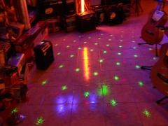 Laser multipuntos verde y rojo .