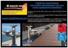 Fuente fx-02 acero inox.aisi 316para ambientes marinos