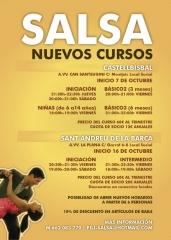 Escuela de salsa. diseño e impresiónd e flyer promocional y acciones de marketing directo.