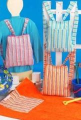 Toalla playa mochila ni�o,creart osona. un regalo original, una pieza artesanal y un complemento textil totalmente ...