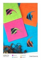 Toallas pra la piscina, creart osona. un regalo original, una pieza artesanal y un complemento texti