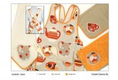 Delantales y batas estampados. . un regalo original, una pieza artesanal y un complemento textil tot