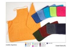 Delantales para personalizar. Un regalo original, una pieza artesanal y un complemento textil totalm