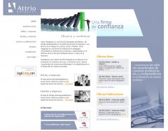 Diseño de página web attrio abogados