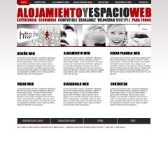 Maqueta de la pagina alojamiento y espacio web