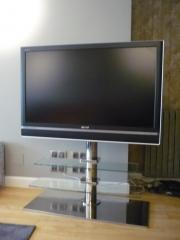 Soporte TV de Acero Inox y Cristal Templado