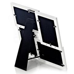 Portafotos aluminio negro 10x15 4f detalle en lallimona.com