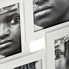 Portafotos aluminio blanco 10x15 4f detalle en lallimona.com