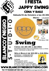 I fiesta jappy swing cena y baile. baila lindy hop y rock & roll en madrid