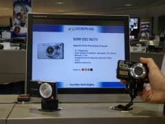Libre exposición cámaras con información marketing